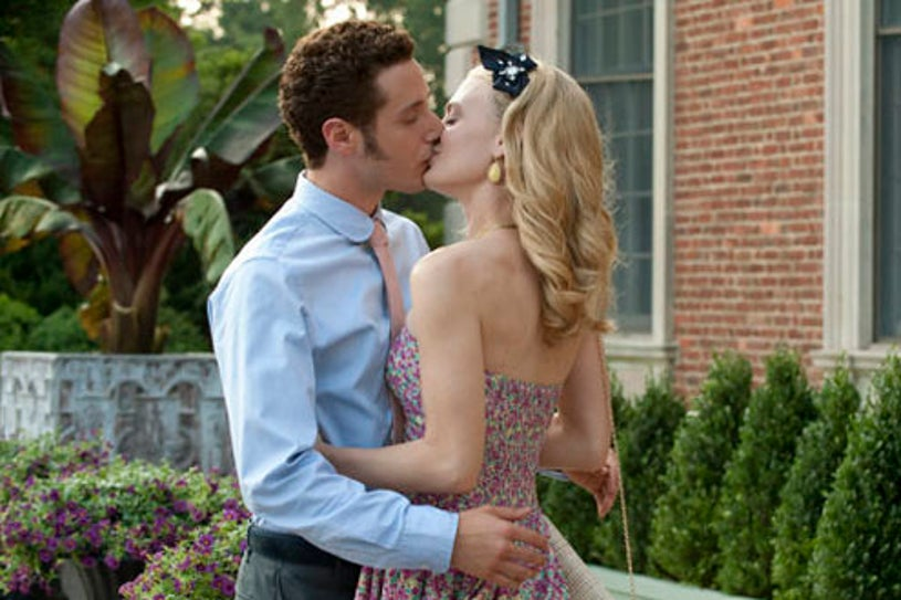 """Royal Pains - Season 2 - """"Frenemies"""" - Paulo Costanzo as Evan Lawson and Brooke D'Orsay as Paige Collins"""