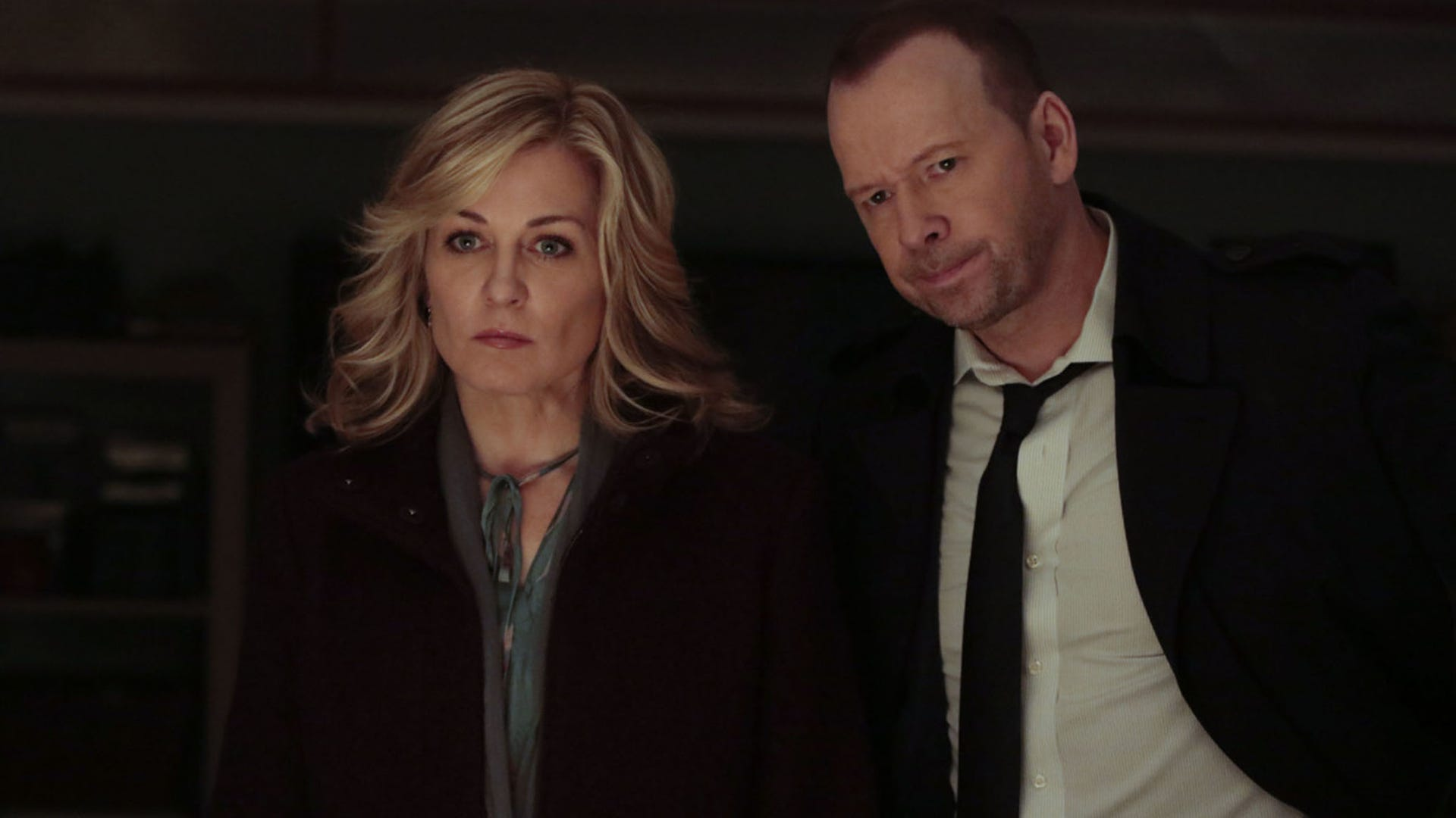 Amy Carlson and Donnie Wahlberg, Blue Bloods