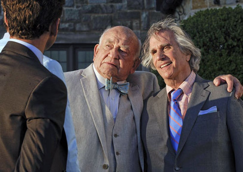 """Royal Pains - Season 3 - """"A Man Called Grandpa"""" - Edward Asner as Ted Roth and Henry Winkler as Eddie R. Lawson"""