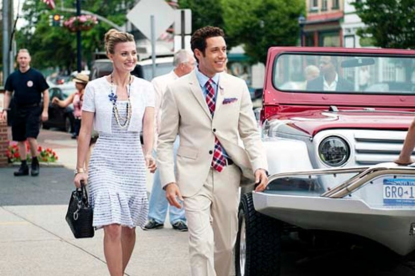 """Royal Pains - Season 5 - """"A Trismus Story"""" - Brooke D'Orsay and Paulo Costanzo"""