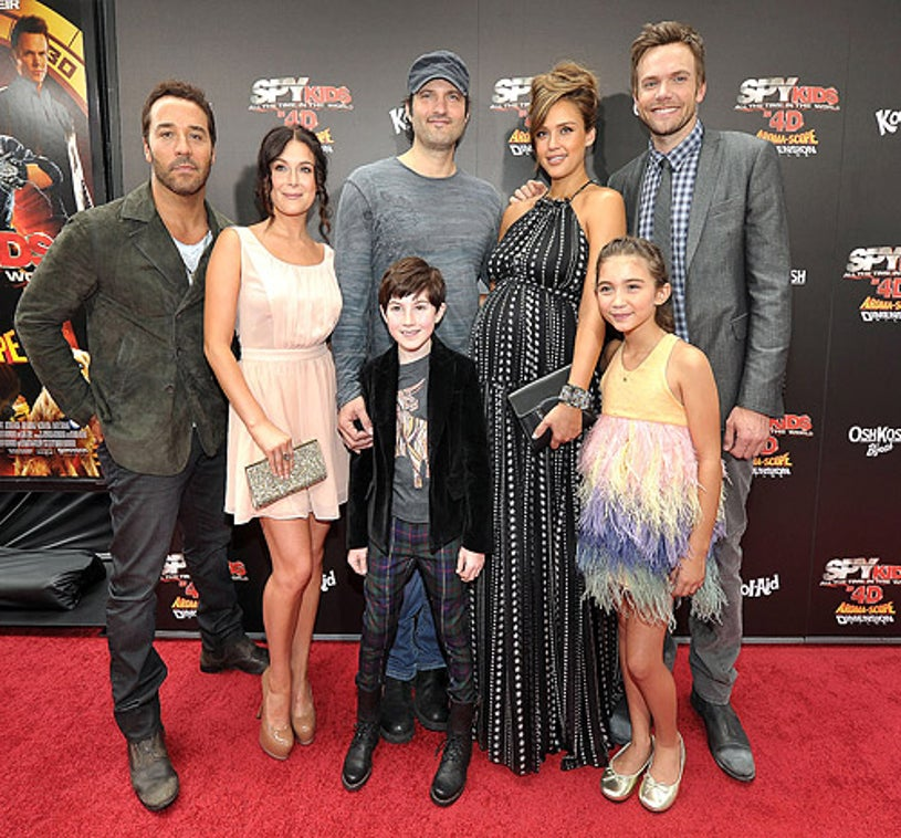 Jeremy Piven, Alexa Vega, Mason Cook, director Robert Rodriguez, Jessica Alba, Rowan Blanchard and Joel McHale - arrive at 'Spy Kids: All The Time In The World 4D' Los Angeles premiere on July 31, 2011 in Los Angeles, California.