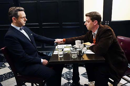 "Masters of Sex - Season 2 - ""Mirror, Mirror"" - Michael Sheen and Christian Borle"