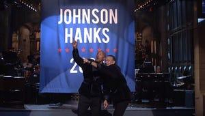 Dwayne Johnson and Tom Hanks Announce 2020 Bid on SNL
