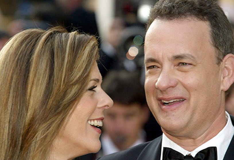 """Rita Wilson and Tom Hanks - The 2004 Cannes Film Festival """"The Ladykillers"""" premiere, May 18, 2004"""