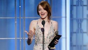 Emma Stone Praises Dreamers in Her Dreamy Golden Globes Speech