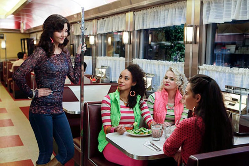 "The Carrie Diaries - Season 1 - ""Dangerous Territory"" - Katie Findlay, Alexandra Miller, Whitney Vance and Chloe Bridges"