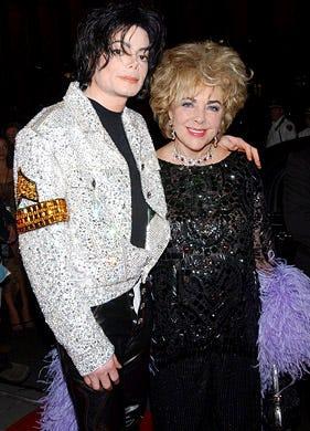 Michael Jackson and Liz Taylor - Michael Jackson's 30th Anniversary Celebration, New York, September 7, 2001