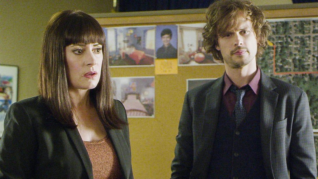 Paget Brewster and Matthew Gray Gubler, Criminal Minds