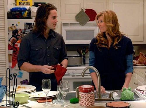 "Friday Night Lights - Season 4 - ""Thanksgiving"" - Taylor Kitsch as Tim Riggins, Connie Britton as Tami Taylor"