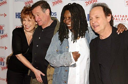 "Joy Behar, Robin Williams, Whoopi Goldberg and Billy Crystal - ""Comic Relief 2006"" in Las Vegas, November 18, 2006"