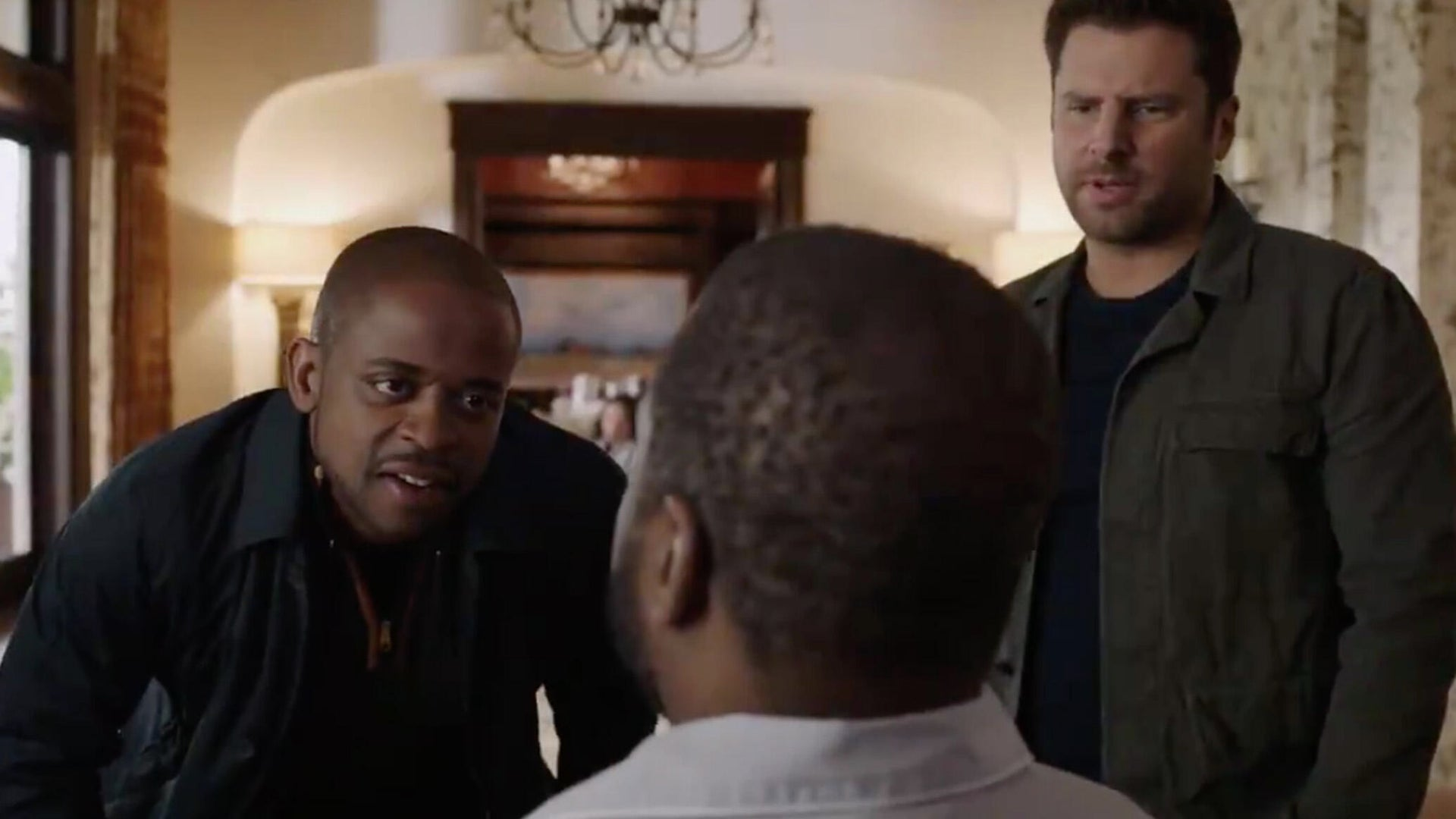 Dule Hill and James Roday, Psych 2: Lassie Come Home