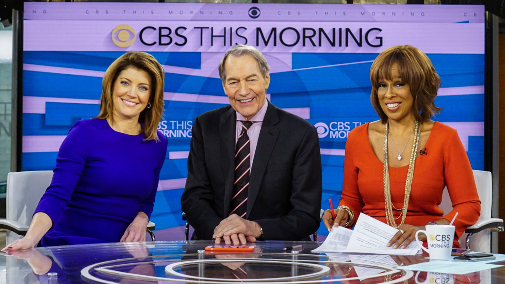 Norah O'Donnell, Charlie Rose and Gayle King, CBS This Morning