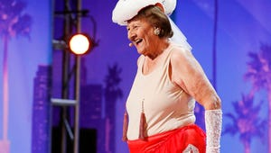 Nick Cannon Has a Thing for This 90-Year-Old Burlesque Dancer on America's Got Talent