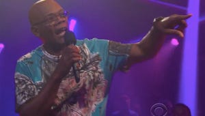 """Watch Samuel L. Jackson and James Corden Talk Trash Hilariously on """"Drop the Mic"""""""