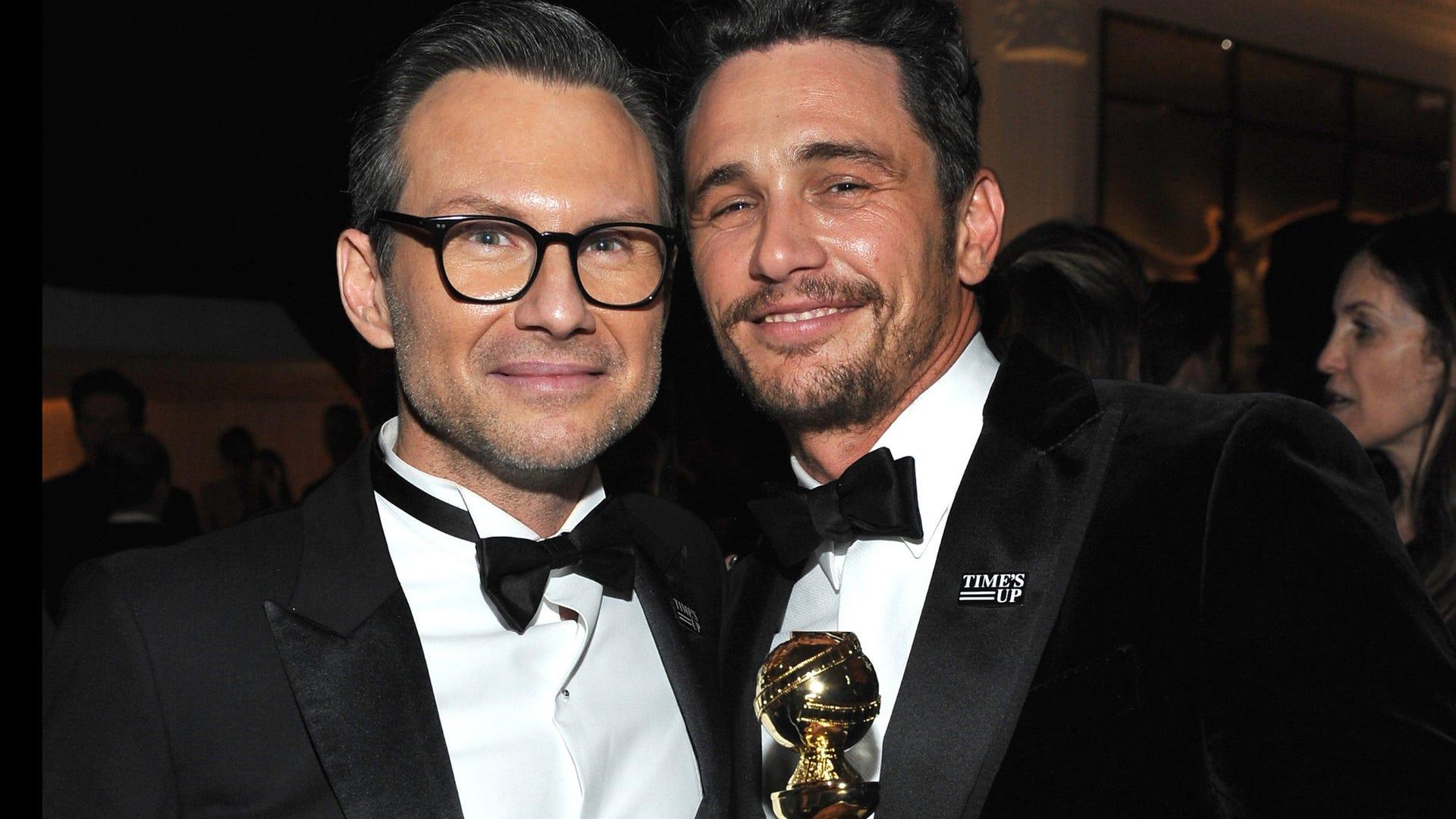 Christian Slater and James Franco