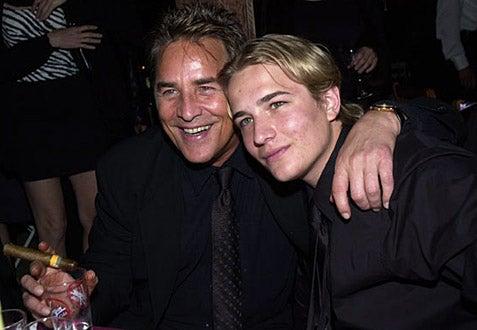 Don Johnson & Jesse Johnson - Cannes 2001 - The Pledge Party