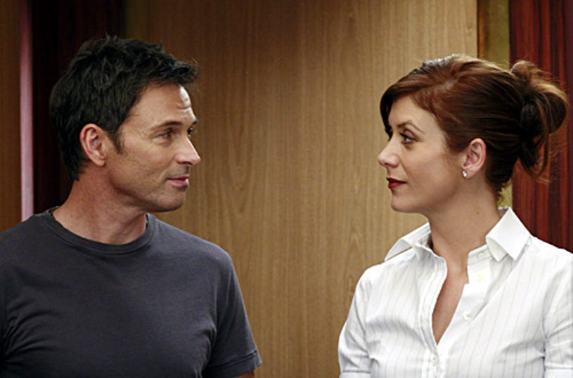 """Grey's Anatomy - """"The Other Side of This Life"""" - Tim Daly as Pete, Kate Walsh as Addison"""