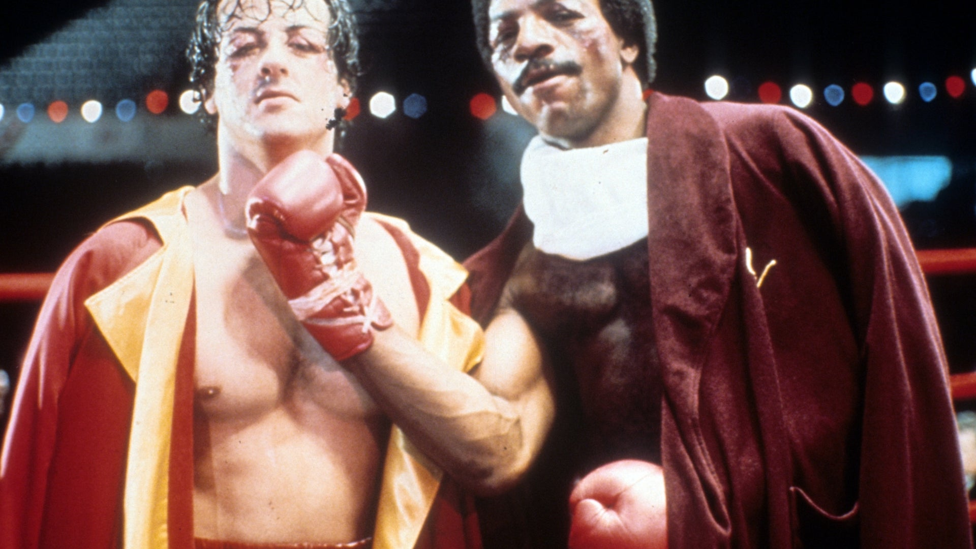 Sylvester Stallone and Carl Weathers, Rocky