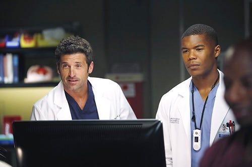 "Grey's Anatomy - Season 10 - ""Map Of You"" - Patrick Dempsey, Gaius Charles"