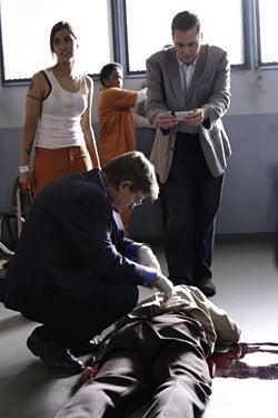 "NCIS - Season 6, ""Caged"" - David McCallum as Donald 'Ducky' Mallard, Sean Murray as Timothy McGee"