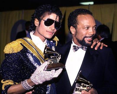 Michael Jackson and Quincy Jones,  - 1984 Grammy Awards
