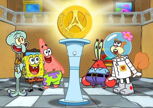 SpongeBob SquarePants - Squidward, SpongeBob, Patrick, Mr. Krabs, Sandy Cheeks