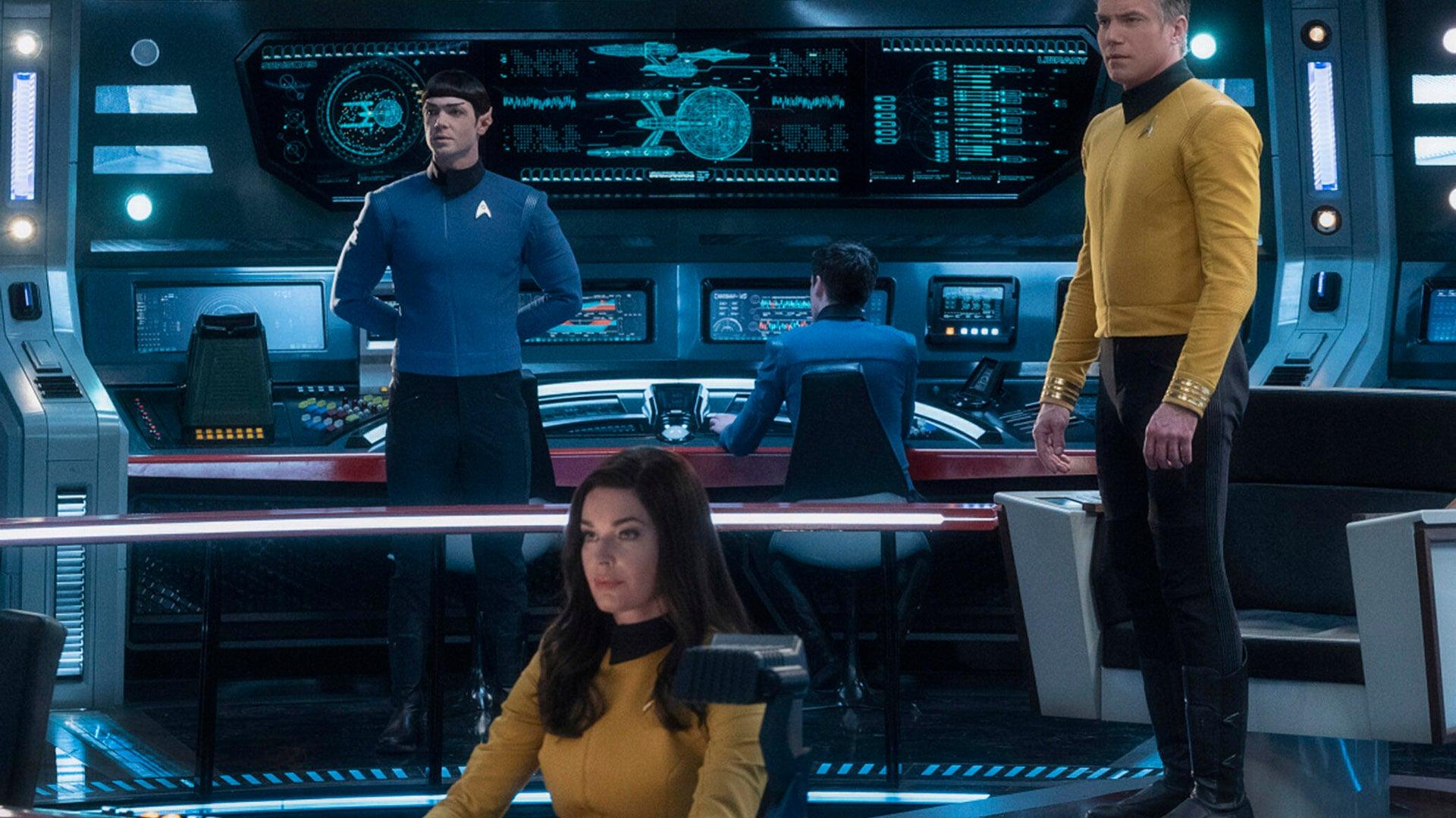 Ethan Peck, Rebecca Romijn and Anson Mount, Star Trek: Short Treks