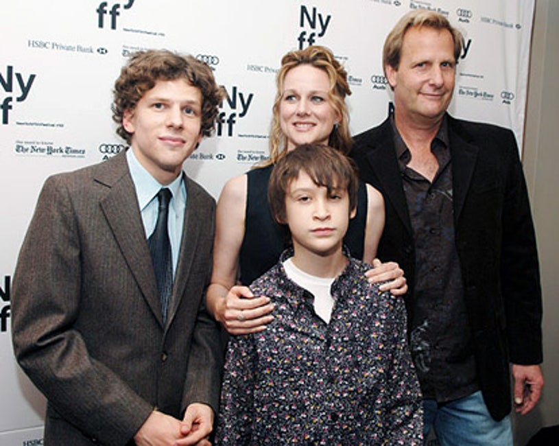 """Jesse Eisenberg, Laura Linney, Owen Kline and Jeff Daniels - New York Film Festival Premiere of """"The Squid and The Whale"""""""