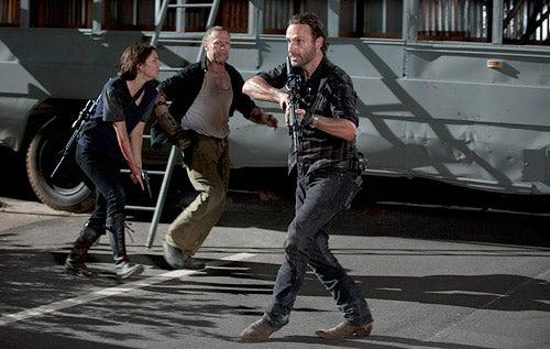 "The Walking Dead - Season 3 - ""The Suicide King"" - Lauren Cohan, Michael Rooker, Andrew Lincoln"