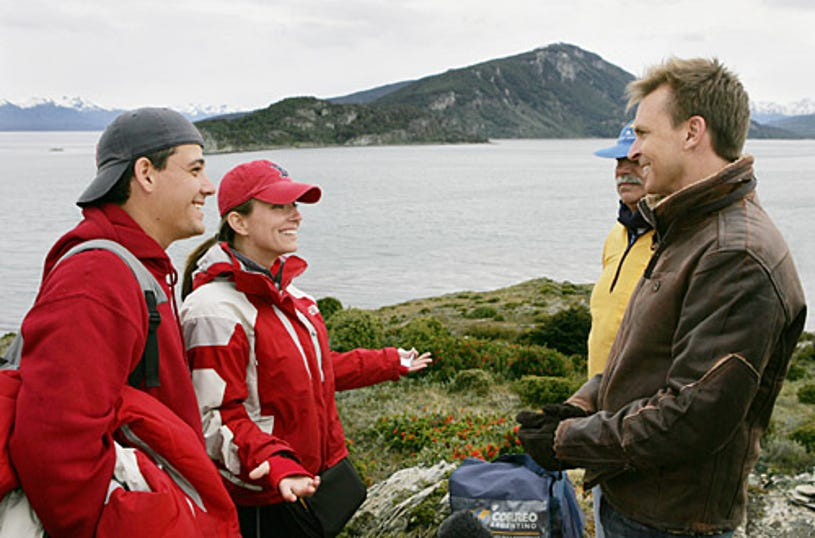 """Amazing Race: All-Stars -""""No Babies On The Race!""""  Rob and Amber were the last team to arrive at the mat in Argentina and become the fourth team to be eliminated from the Race."""