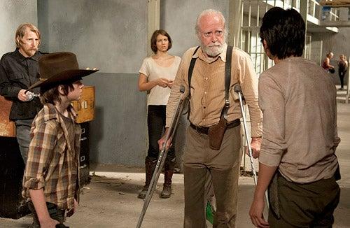 """The Walking Dead - Season 3 - """"Home"""" - Lew Temple, Chandler Riggs, Lauren Cohan, Scott Wilson, Steven Yeun"""