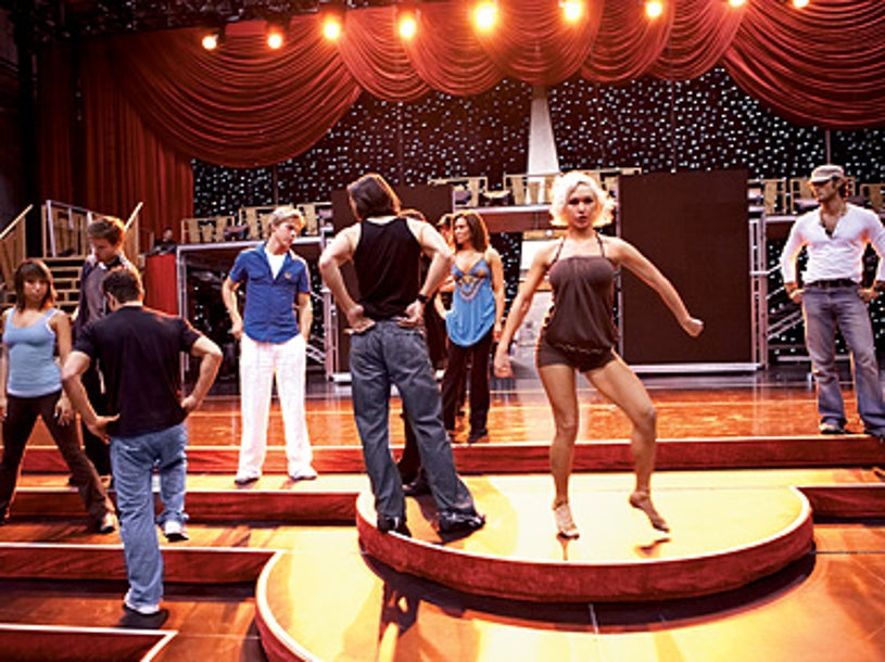 The enormous tour set is designed to resemble the TV show's, and even the dance floor is disassembled and trucked to each stop.