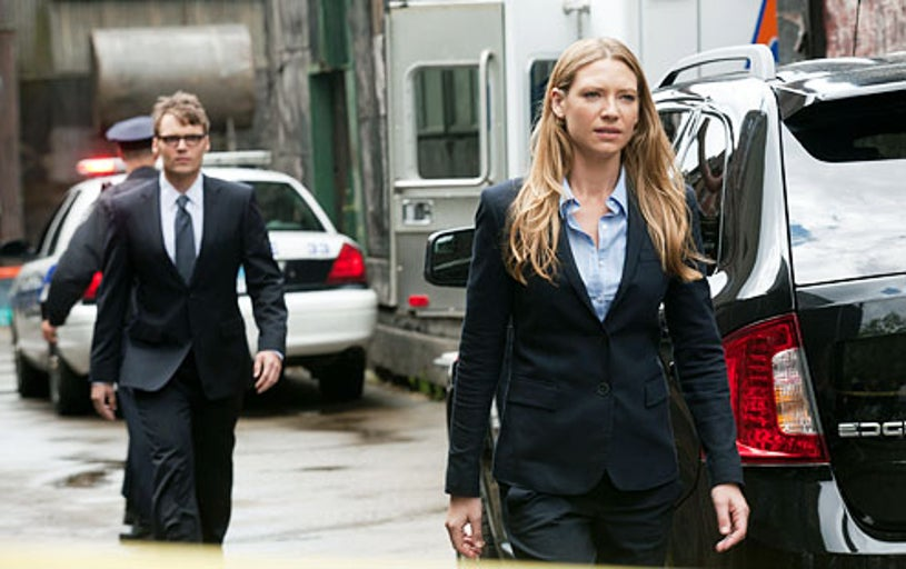 """Fringe - Season 4 - """"Neither Here Nor There"""" - Seth Gabel as Lincoln Lee and Anna Torv as Olivia Dunham"""