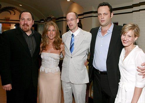 "Jon Favreau, Jennifer Aniston, Peyton Reed, Vince Vaughn and Joey Lauren Adams - ""The Break Up"" Los Angeles Premiere, May 22, 2006"