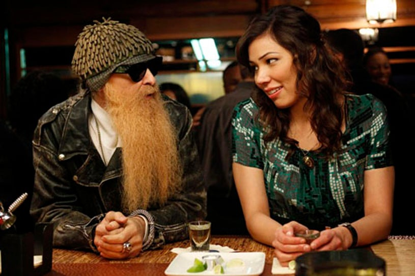 """Bones - Season 5 - """"The Beginning in the End"""" - Guest star Billy F. Gibbons and Michaela Conlin"""