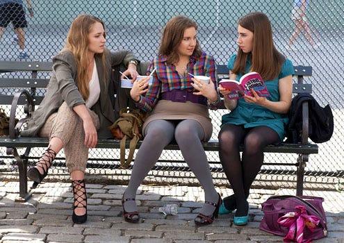 Girls - Season 1 - Jemima Kirke, Lena Dunham and Zosia Mamet