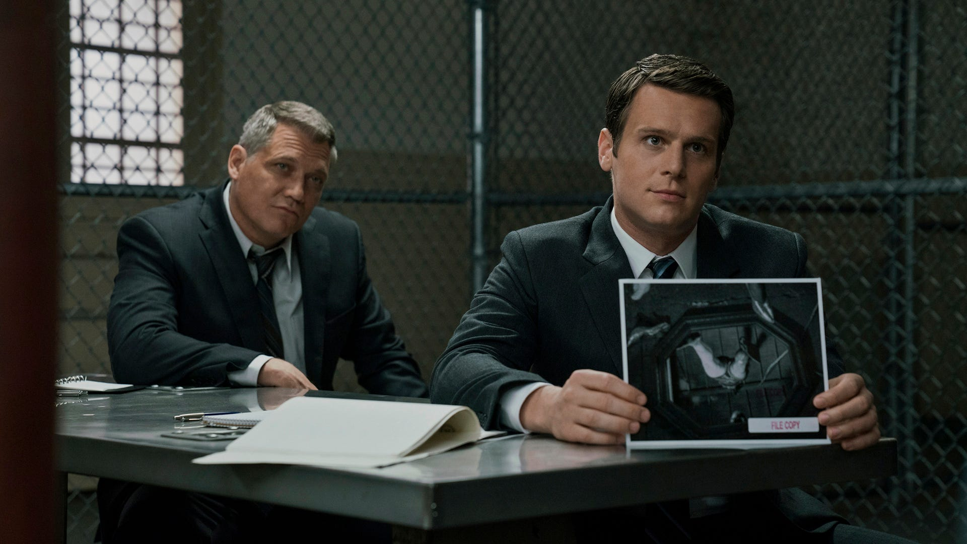 Holt McCallany and Jonathan Groff, Mindhunter