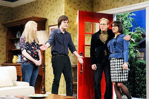 "Saturday Night Live - Season 38 - ""Daniel Craig"" - Vanessa Bayer, Bill Hader, Daniel Craig and Fred Armisen"
