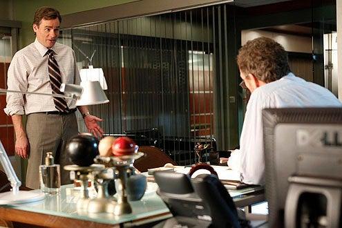 "House - Season 7 - ""Fall From Grace"" - Robert Sean Leonard as Wilson and Hugh Laurie as House"