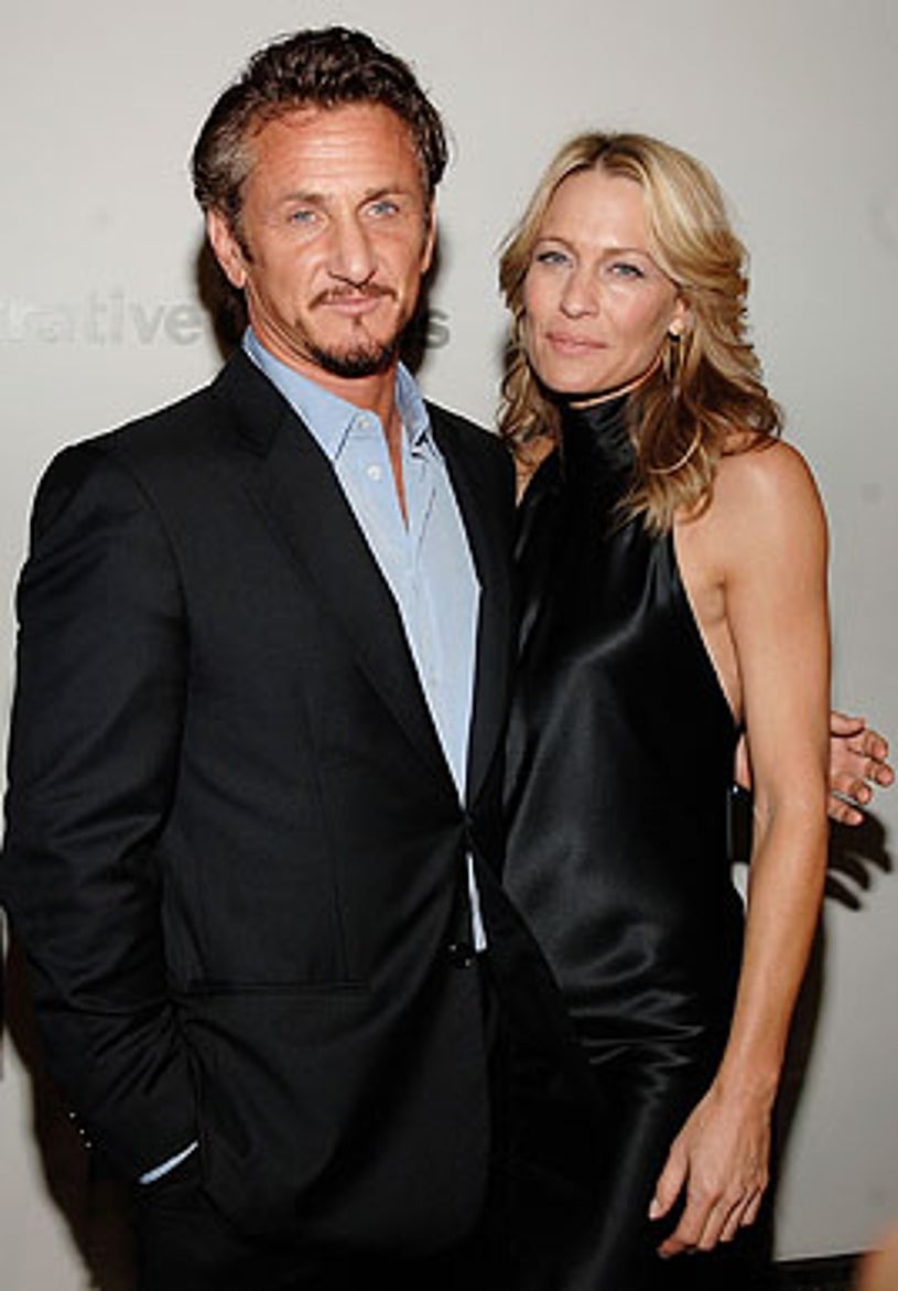 """Sean Penn and Robin Wright Penn - The """"What Just Happened' premiere in New York City, October 1, 2008"""