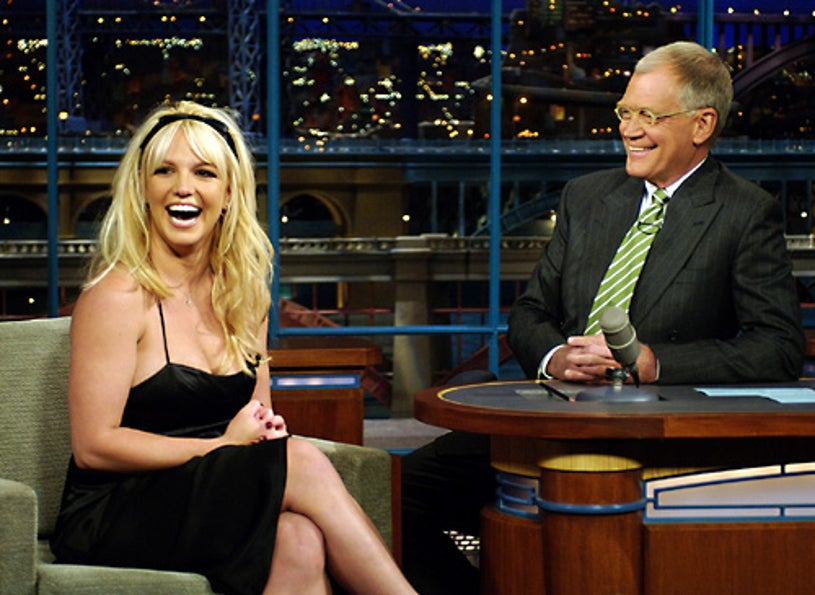 The Late Show with David Letterman - In a surprise appearance, pop superstar Britney Spears tells David Letterman the news that she's pregnant with her second child. - Tuesday, May 9, 2006