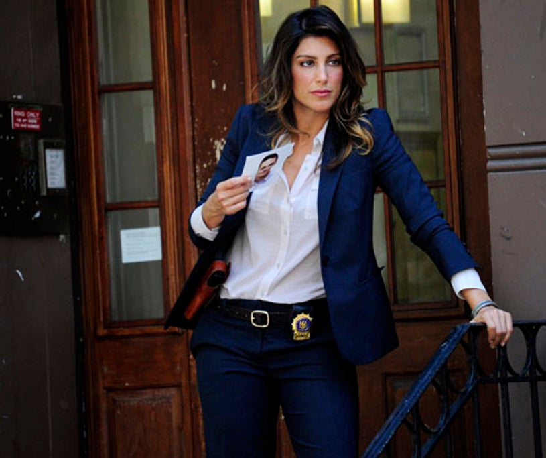 "Blue Bloods - Season 2 - ""Mercy"" - Jennifer Esposito as Det. Jackie Curatola"