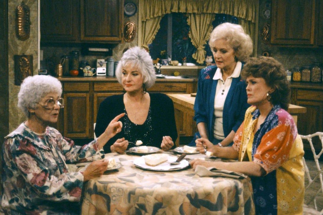 Estelle Getty, Bea Arthur, Betty White, Rue McClanahan, Golden Girls